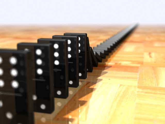 Domino taşları ve domino etkisi